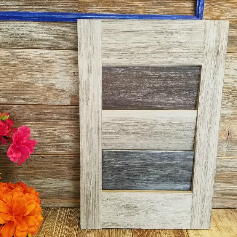 Distressed barn wood shutters