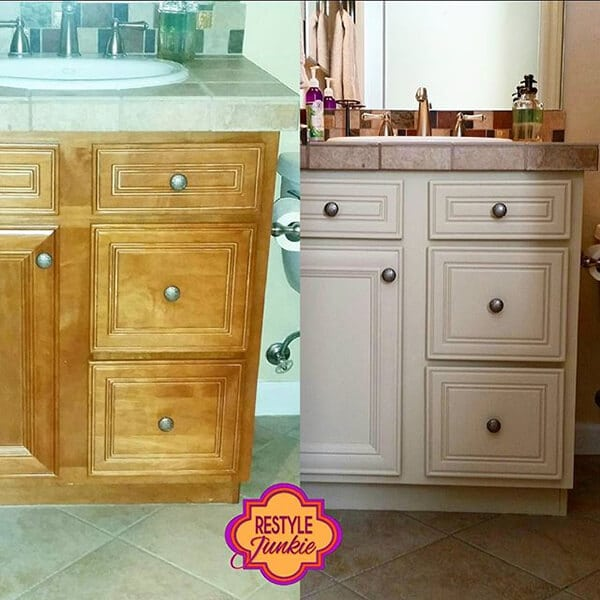 Refinishing bathroom cabinets
