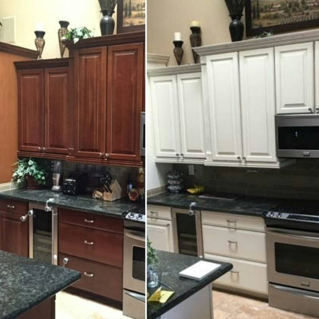 Professional cabinet painting