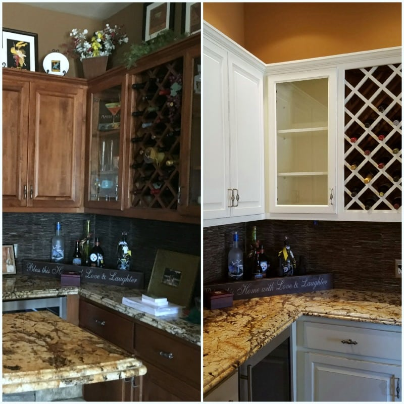 White Kitchen Cabinets Refinishing: White-kitchen-cabinets-before-and-after