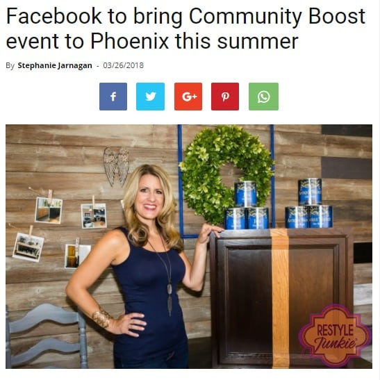 Restyle Junkie Face of Facebook Boosting Event