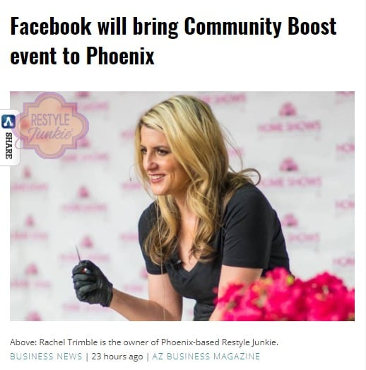 Restyle Junkie Face of Facebook Boosting Event in Phoenix