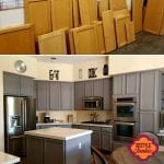 Painted Grey Cabinets Restyle