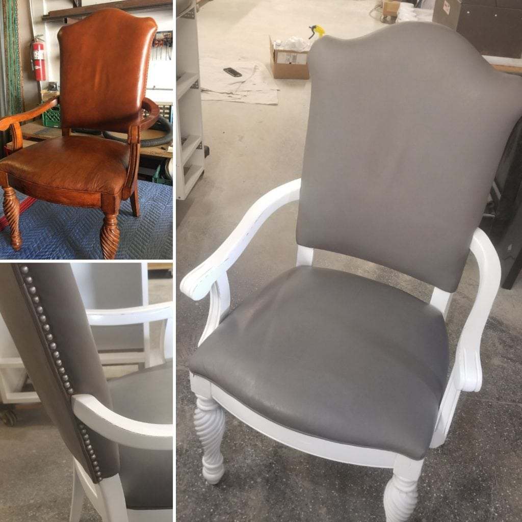Incredible Diy Leather And Vinyl Stain Restyle Junkie Forskolin Free Trial Chair Design Images Forskolin Free Trialorg