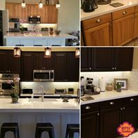 Honey Oak Cabinets refinished in espresso