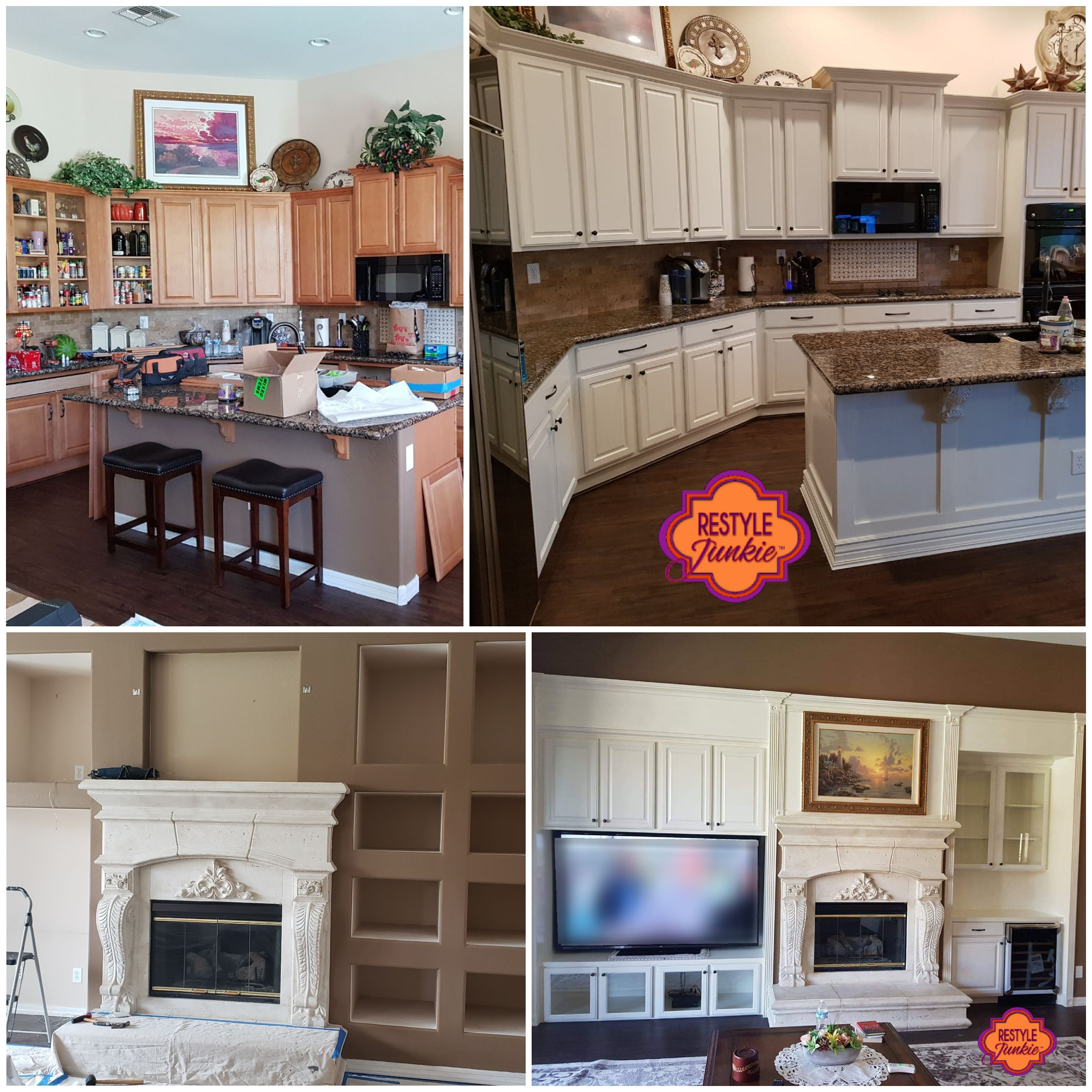 Kitchen and Entertainment Center by Restyle Junkie