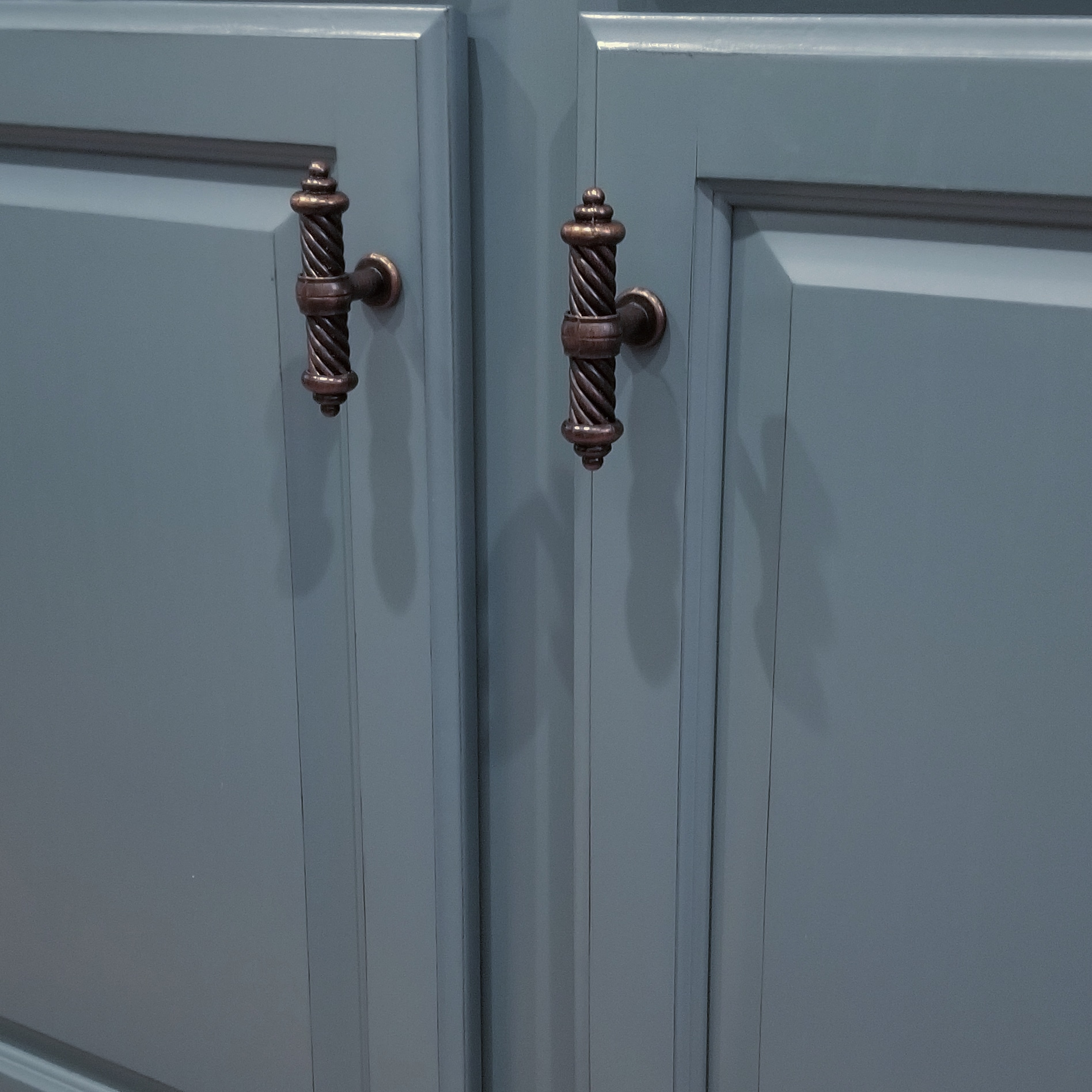 Moody Blues Painted Cabinets