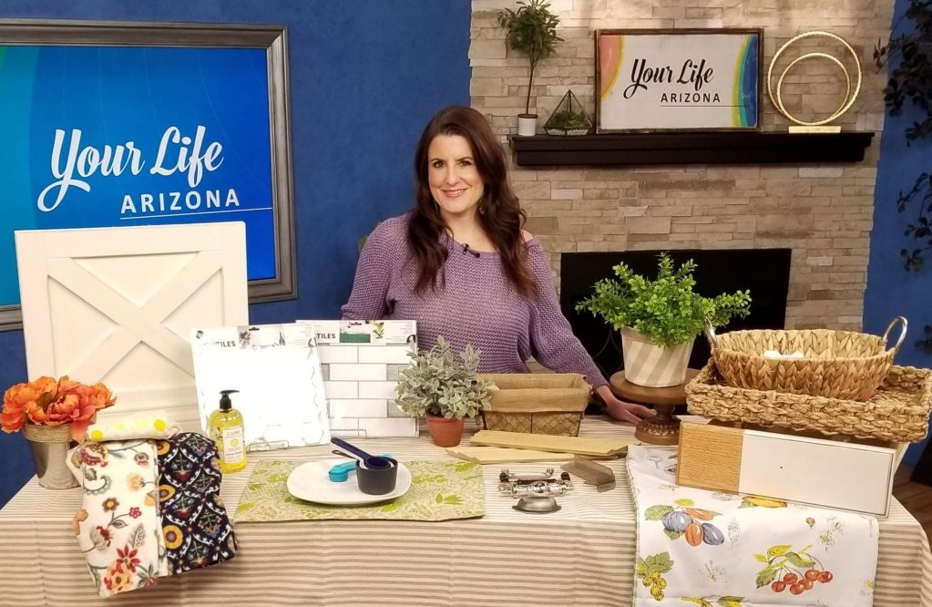 Restyle Junkie Rachel Elise Trimble Sharing Budget-Friendly Ktichen Updates on Your Life Arizona on TV3s AZFamily