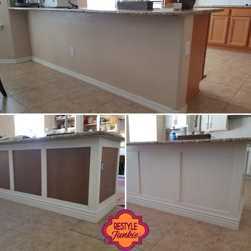 Updated drywall kitchen wall