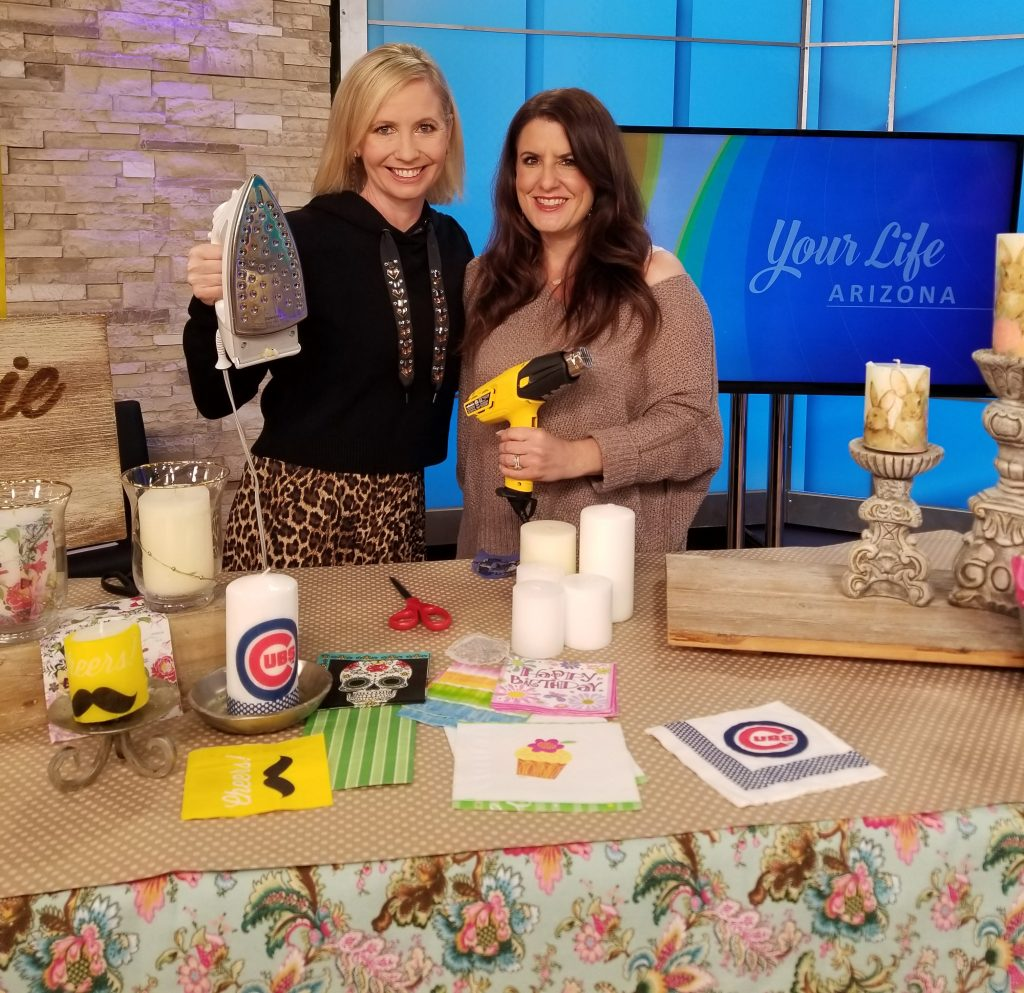 Transferring Napkins with Heat with Suzanne Bissett and The Restyle Junkie on Your Life Arizona